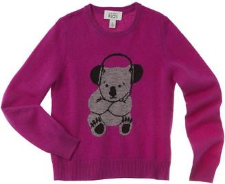 Autumn Cashmere Kids Koala Intarsia Cashmere Sweater