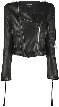 Balmain Cropped Biker Jacket
