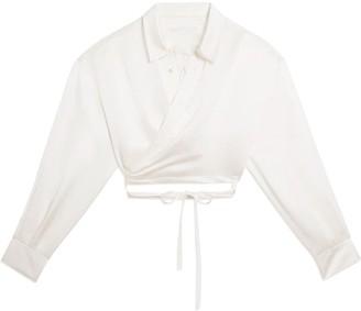Fenty Satin draped shirt