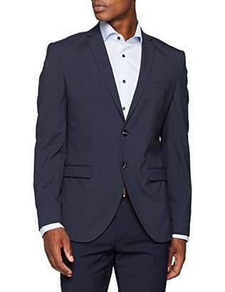 Selected Men's Slhslim-mylologan Navy Stripe BLZ B Noos Blue Blazer, (Size: 50)