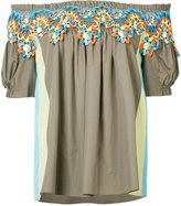 Peter Pilotto guipare lace Bardot blouse - women - Cotton - 8
