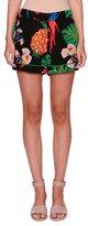 Valentino Tropical Dream Silk Shorts, Black/Multi