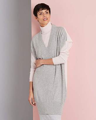 Concept By Jdw Concept Cashmere Silk Back Tunic
