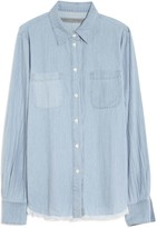 Raquel Allegra Denim Frayed Shirt