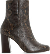 Dune Osmond reptile-effect leather ankle boots