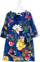 MonnaLisa jungle-print dress