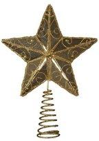 Kurt Adler 6-1/4-Inch Gold Wire Star Treetop by