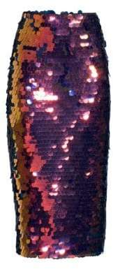 Milly Rainbow Sequin Pencil Skirt