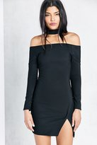 Astr Margaux Choker Bodycon Mini Dress