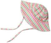 Zutano Girls' Rainbow Candy Stripe Sun Hat