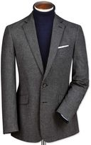 Slim Fit Black And Grey Puppytooth Cotton Flannel Cotton Jacket Size 46 Regular By Charles Tyrwhitt