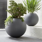 Crate & Barrel Grey Ball Planters