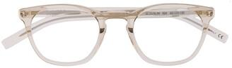 Saint Laurent Eyewear Clear Horn-Rimmed Glasses