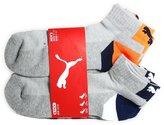 Puma Men's Quarter Crew Low Cut Socks - 6 Pairs