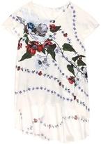 Erdem Jasmine Floral-printed Silk Top