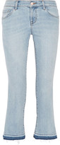 J Brand Selena Cropped Mid-rise Bootcut Jeans - Light denim