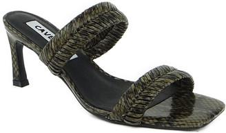 CAVERLEY Venus Braided Leather Slide Mules