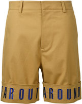 General Idea embroidered hem shorts - men - Cotton/Polyester/Polyurethane - 48