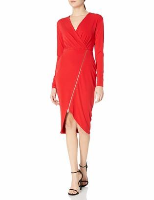 Rachel Roy Women's Zip Front Rouche Dress
