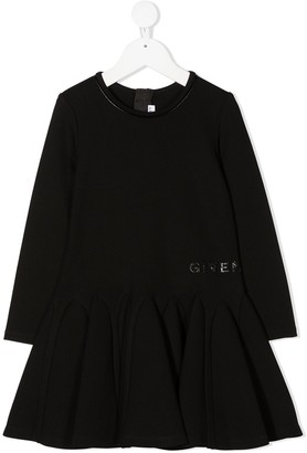 Givenchy Kids Peplum Skirt Midi Dress