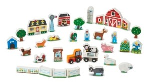 Melissa & Doug Wooden Farm Tractor Play