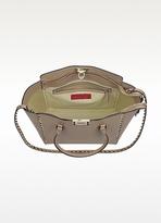 Valentino Rockstud Beige Leather Tote Bag