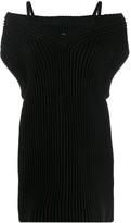 Maison Margiela ribbed knitted vest dress