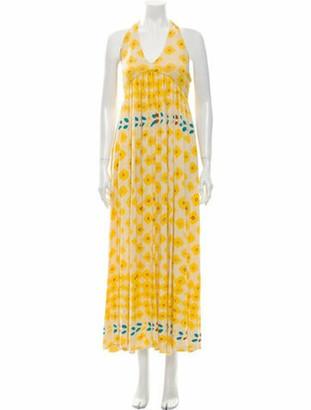 Diane von Furstenberg Linen Long Dress Yellow