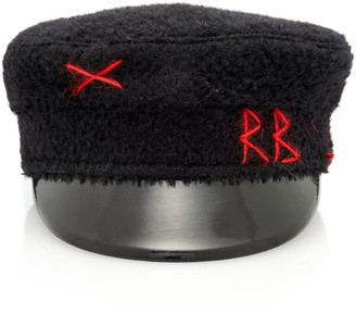 Ruslan Baginskiy Hats Embroidered Wool Baker Boy Cap