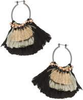 Nakamol Two-Tone Tassel Hoop Earrings