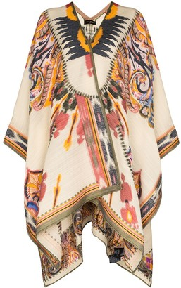 Etro Patterned Knit Poncho