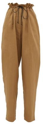 Albus Lumen - Agaso Drawstring-waist Linen Trousers - Womens - Camel