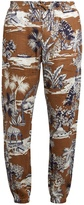 Etro Gazebo Tree-print linen trousers