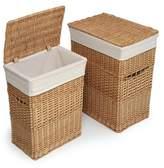 Badger Basket Set of 2 Hampers with Liners - Natural