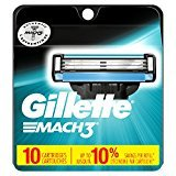 Gillette Mach3 Men's Razor Blade Refills, 10 Count (packaging may vary), Mens Razors / Blades