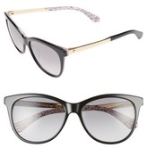 Kate Spade Women's Jizelle 55Mm Gradient Lenses Cat Eye Sunglasses - Black/ Pattern Red