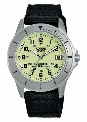 Lorus Womens Analogue Quartz Watch with Nylon Strap RS933DX9