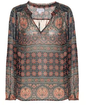 Velvet Shana printed chiffon shirt