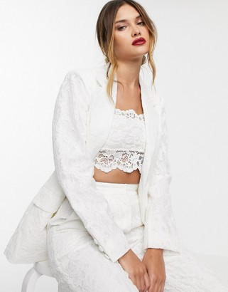 ASOS EDITION lace wedding blazer