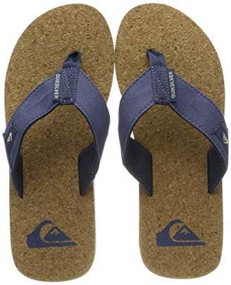 Quiksilver Molokai Abyss Cork - Sandals for Men Beach & Pool Shoes, Brown/Blue Xbcb