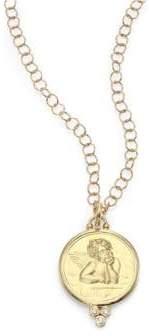Temple St. Clair Angel Diamond& 18K Yellow Gold Large Pendant