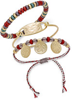 INC International Concepts Gold-Tone 3-Pc. Set Red Bead Bracelets, Only at Macy's