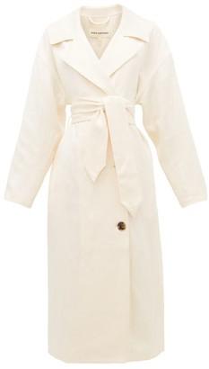Mara Hoffman Bernadetta Belted Lyocell Midi Dress - Cream