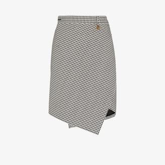 Balenciaga Asymmetric Houndstooth Skirt