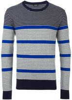 Diesel ribbed trim striped jumper