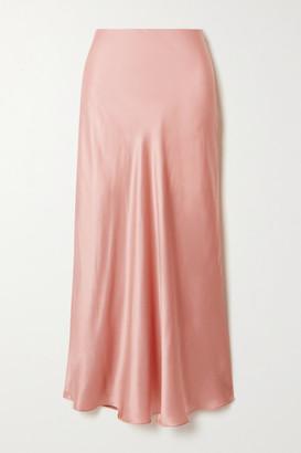 Le Kasha Silk-satin Midi Skirt - Pink