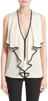 Jason Wu Women's Drape Front Satin Top