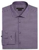John Varvatos Gingham Check Slim Fit Stretch Dress Shirt