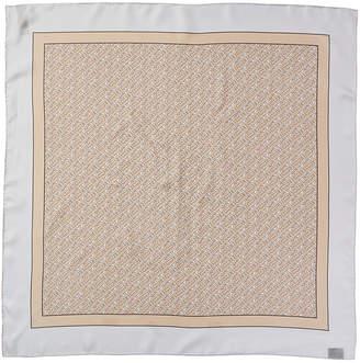 Burberry Monogram Print Silk Scarf