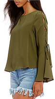 GB Lace-Up Bell Sleeve Tee